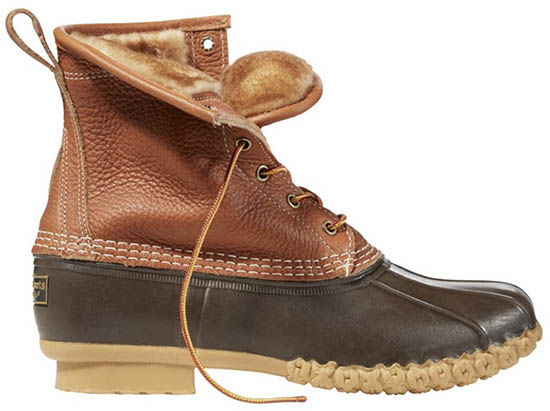 L.L. Bean Boots 8-inch Shearling-Lined PrimaLoft winter boots
