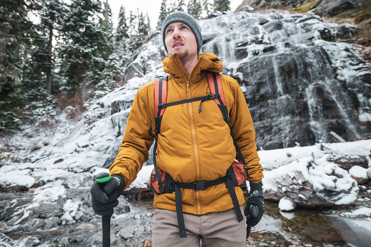 Arc'teryx Atom AR Hoody (in front of waterfall)