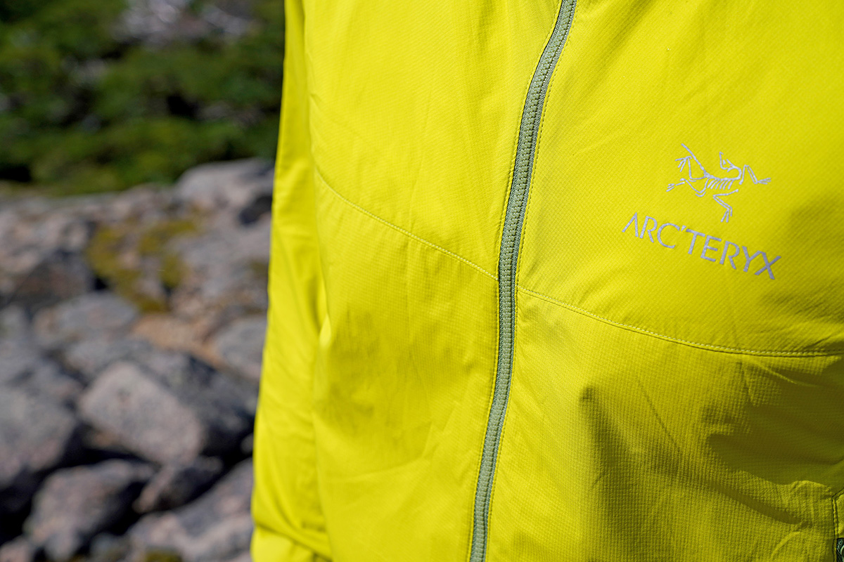 Arc'teryx Atom SL Hoody synthetic jacket (face fabric and logo)