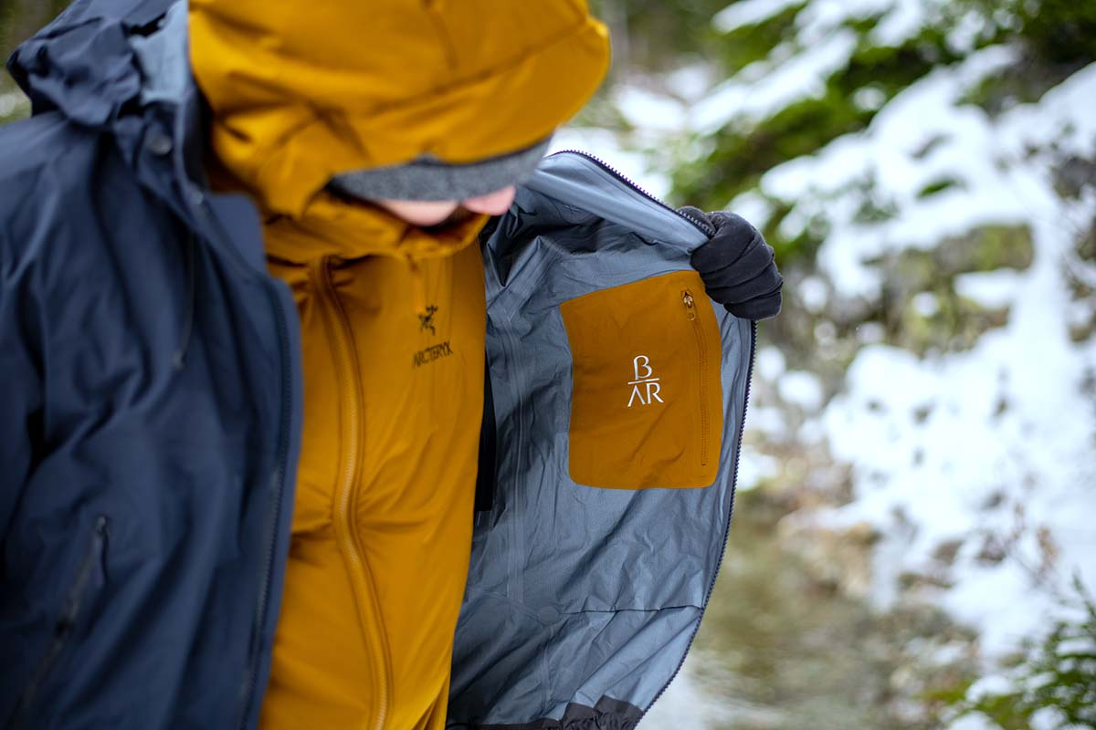 Arc'teryx Beta AR hardshell jacket (logo on inside)