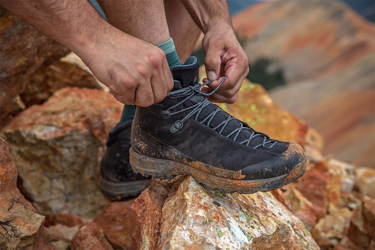 Arc'teryx Acrux TR hiking boot (lacing up)