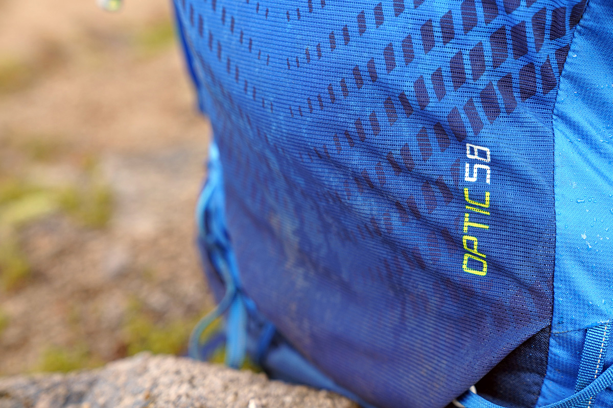 Gregory Optic 58 backpacking pack (logo)