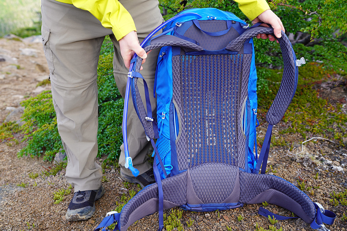 Gregory Optic 58 backpacking pack (mesh backpanel)