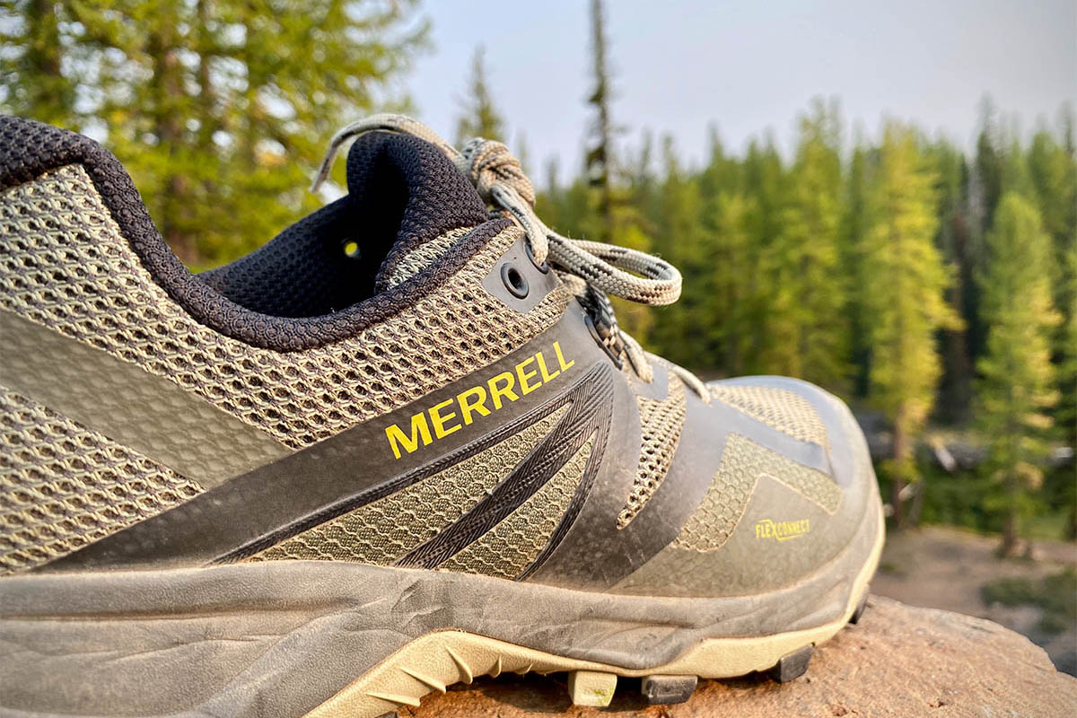 Merrell MQM Flex 2 hiking shoe (closeup of mesh upper)