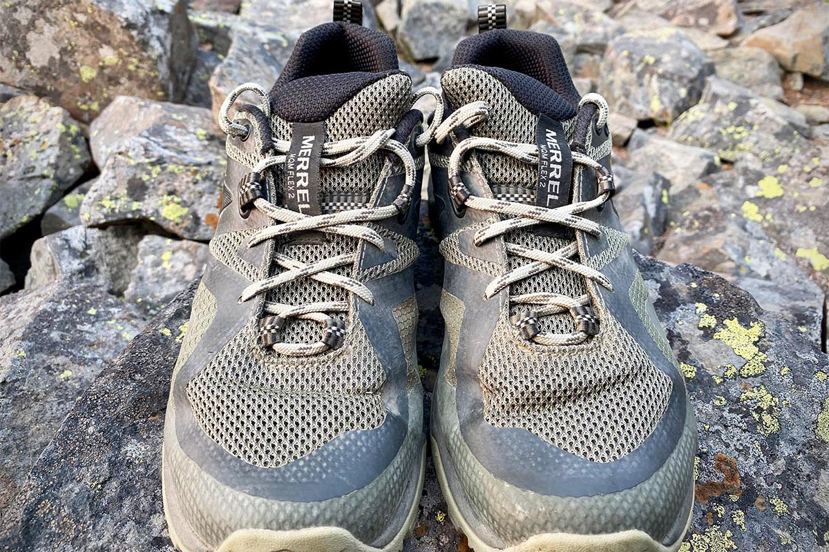 Merrell MQM Flex 2 hiking shoe (lacing system)