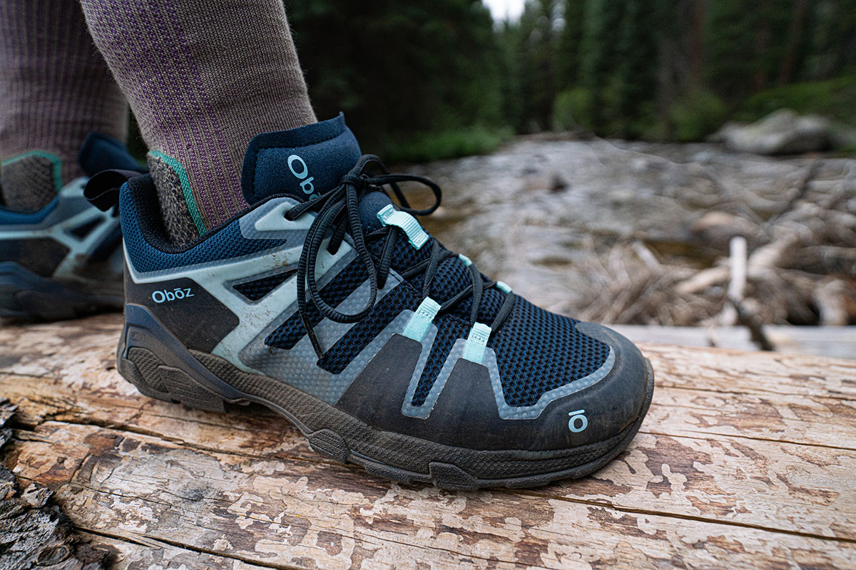 Oboz Arete hiking shoes (closeup from side)