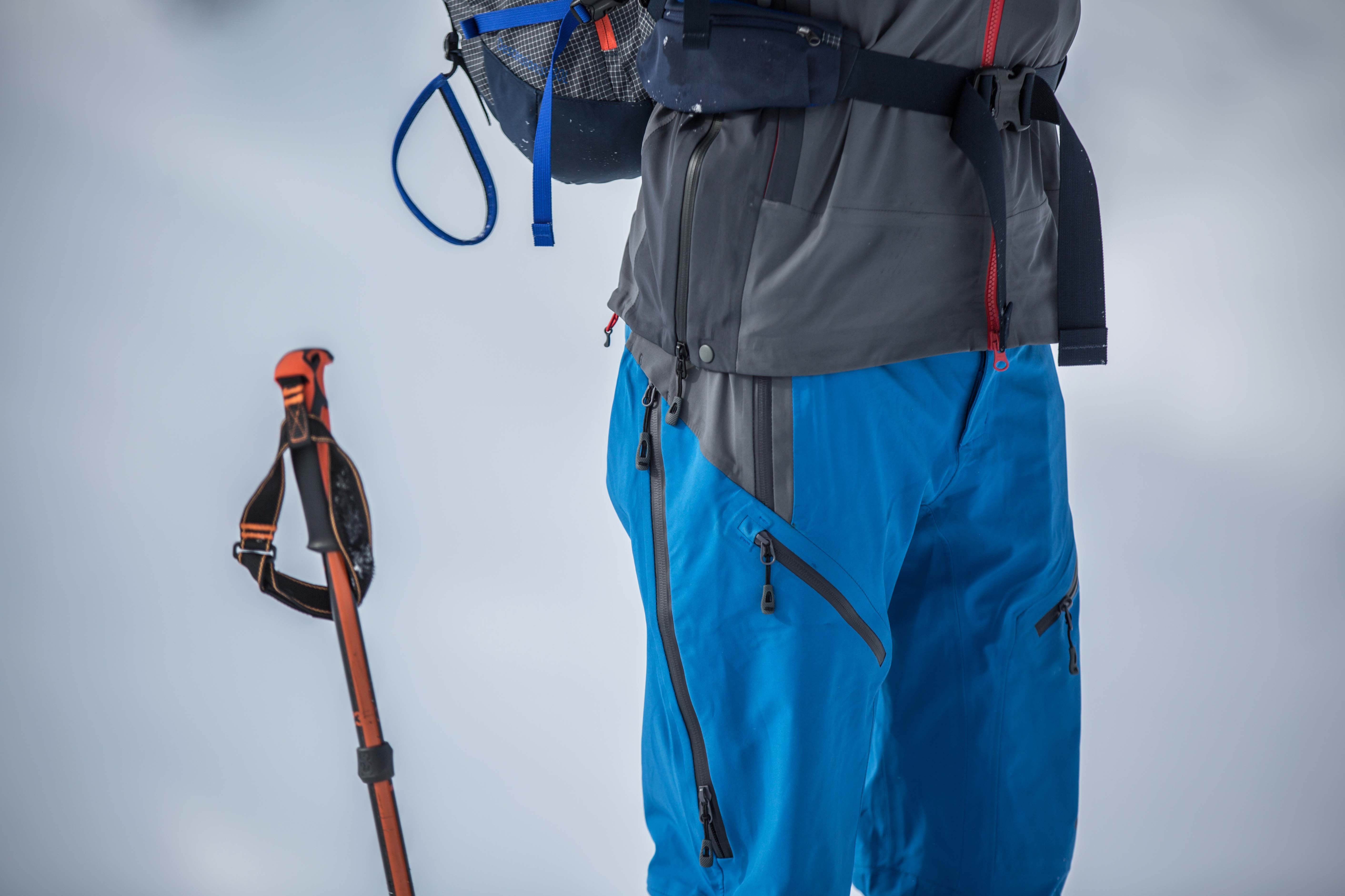 Outdoor Research Skyward II ski pants (closeup)
