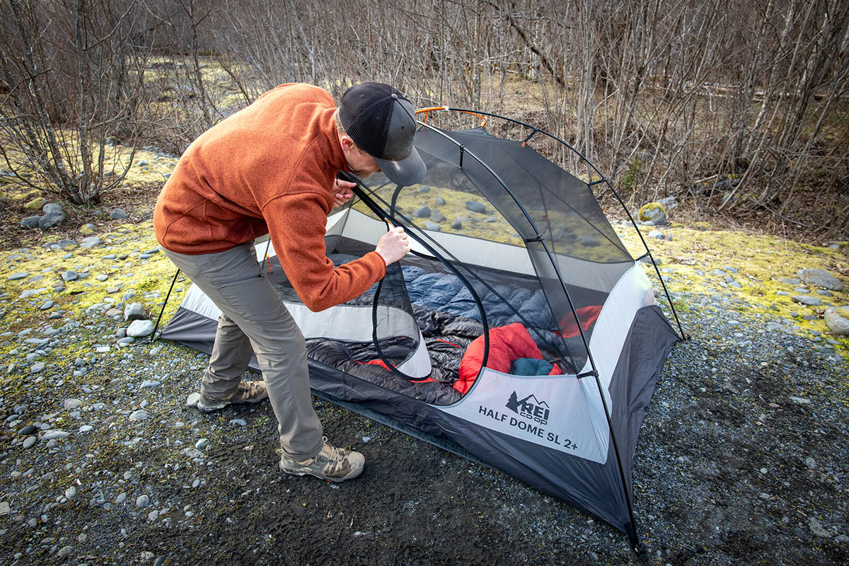 REI Co-op Half Dome SL 2 Plus tent (door)