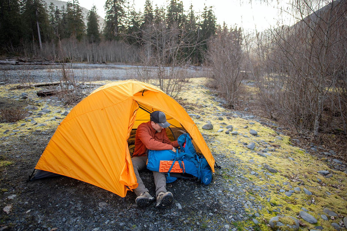 REI Co-op Half Dome SL 2 Plus tent (with fly on)
