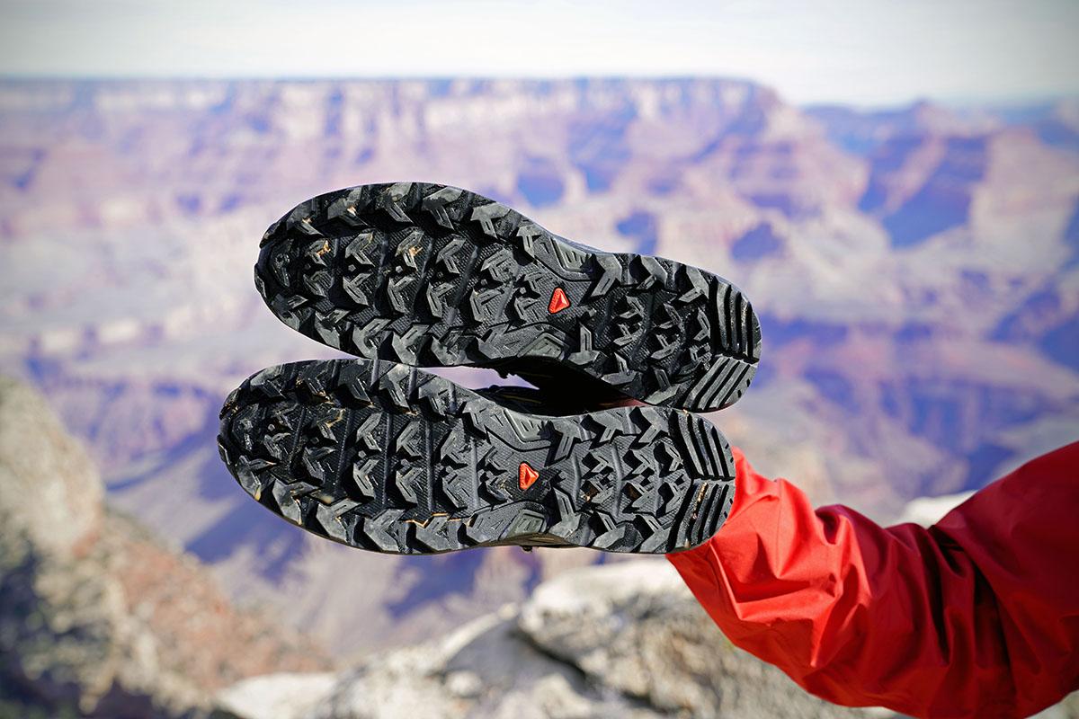 salomon men's x ultra 3 mid gtx shoe review leather kit