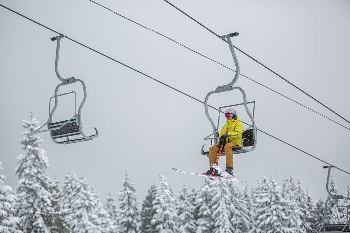 Smith Quantum MIPS helmet (sitting on chairlift)