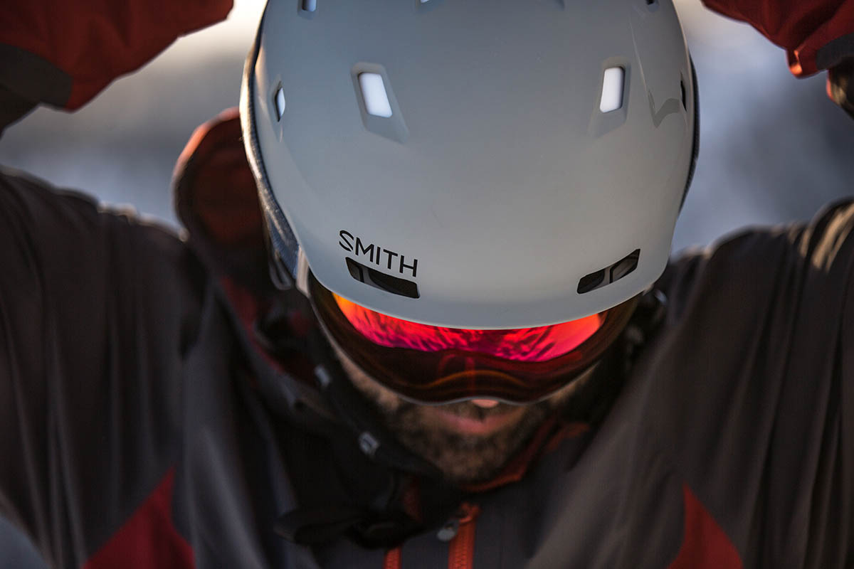 Smith Quantum MIPS helmet (vents and logo)