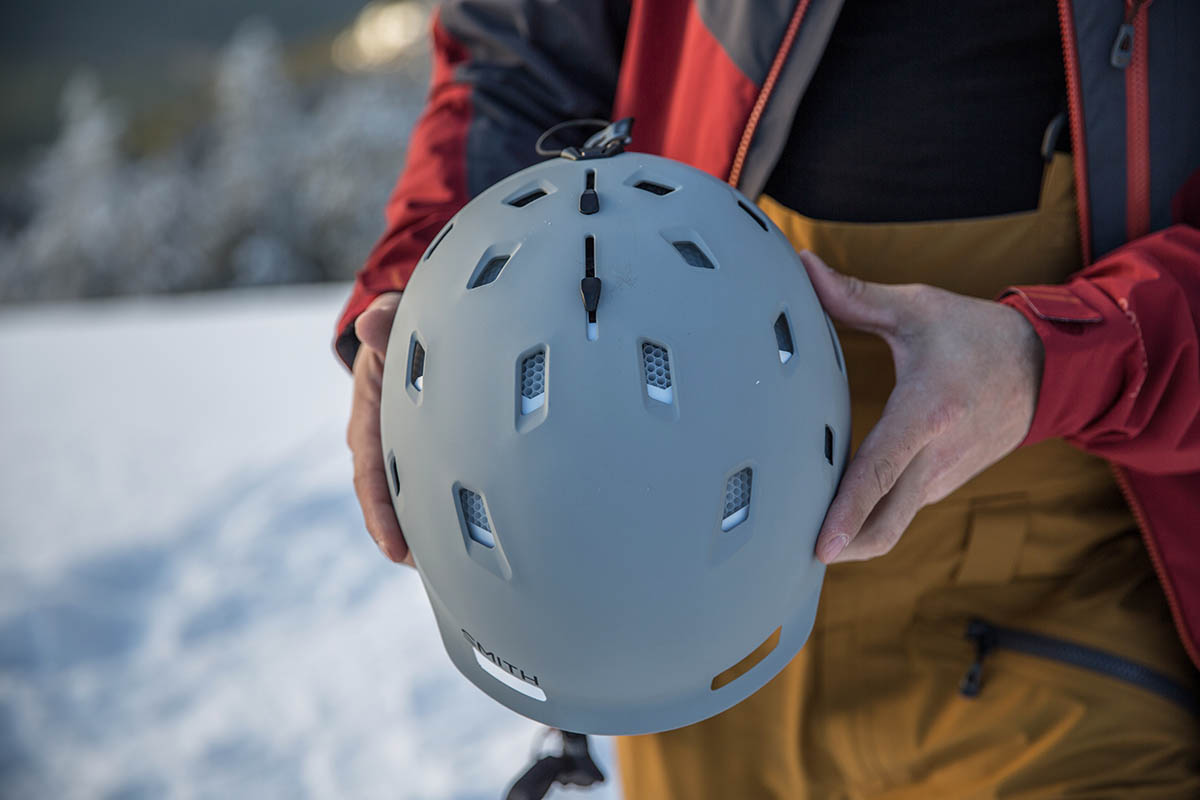 Smith Quantum MIPS helmet (vents open)