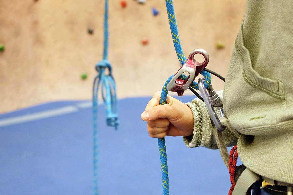Belay Devices (belaying with Black Diamond ATC-Guide in gym)