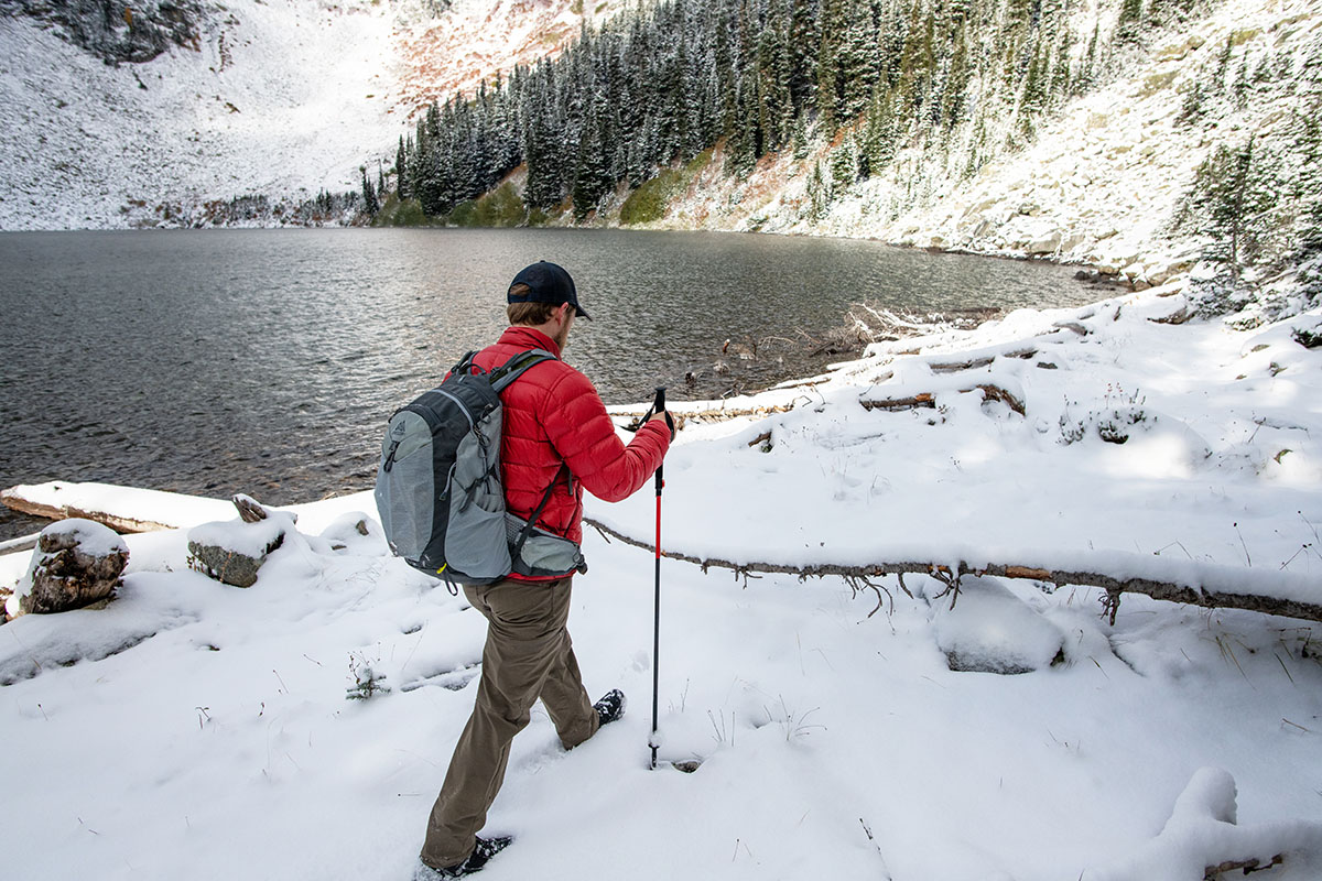 REI Co-op 650 Down Jacket 2.0 (snowy hike)