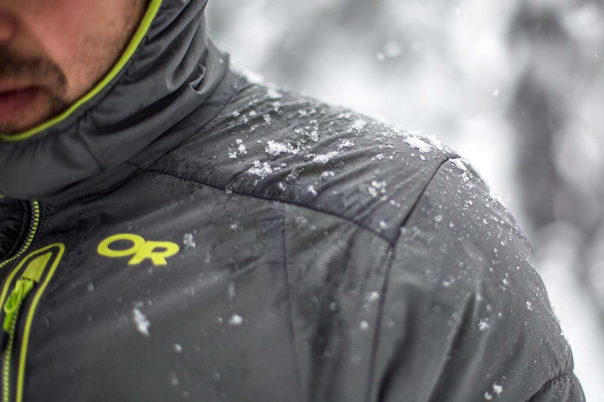 Down vs. Synthetic (Outdoor Research Ascendant jacket wet)