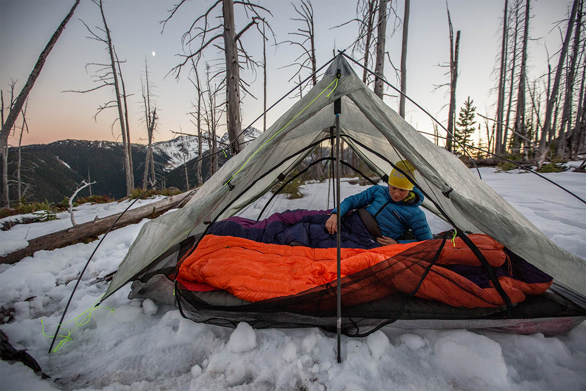 Backpacking Tents (Zpacks Duplex in snow)