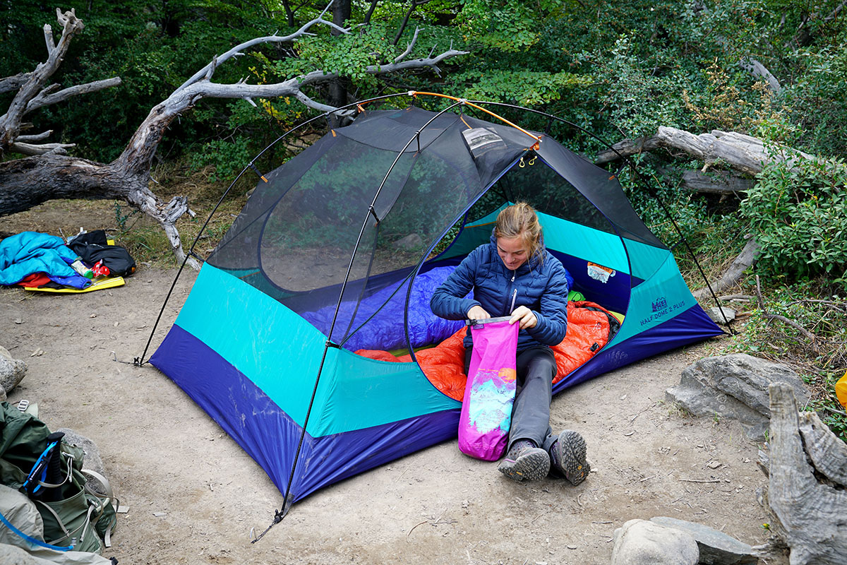 Backpacking tent (two doors)