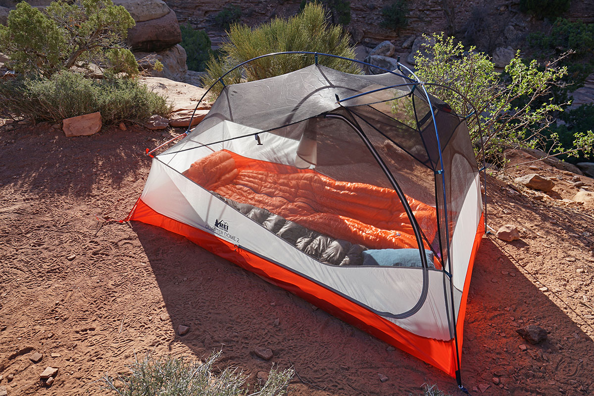 Backpacking tents (interior space)