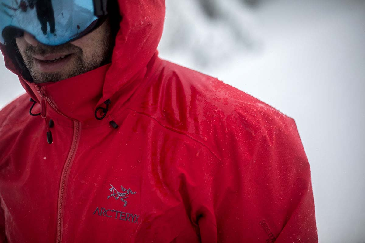 Arc'teryx ski jacket (Gore-Tex waterproofing)