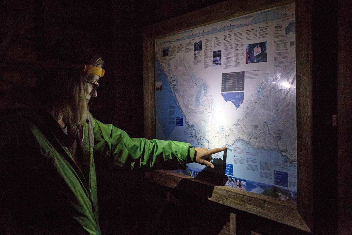 Great Ocean Walk (looking at map with headlamp)
