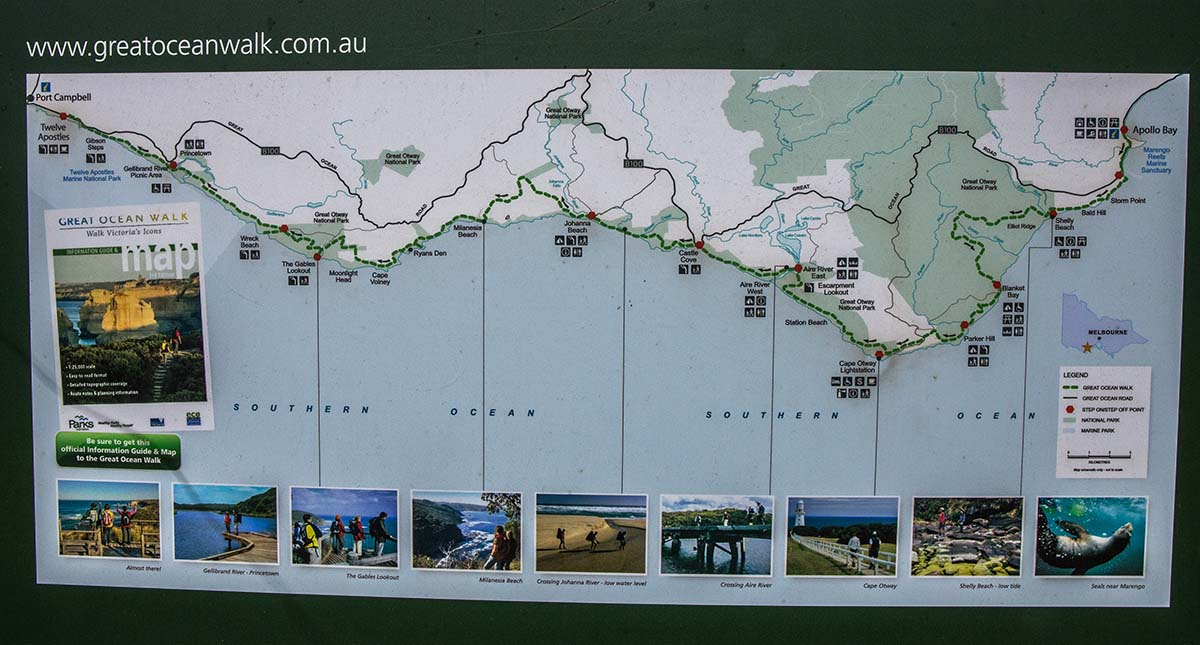 Great Ocean Walk (map of route)