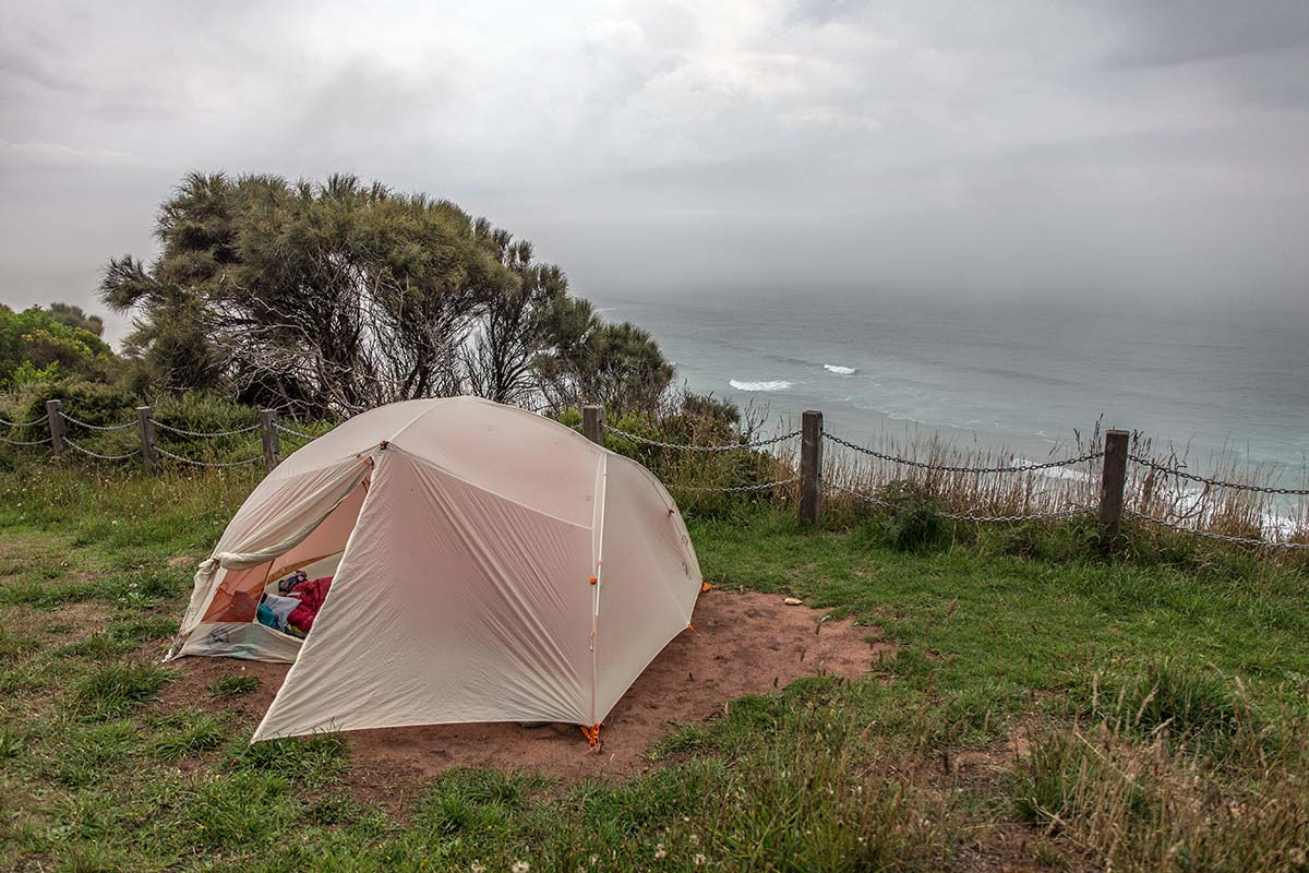 Great Ocean Walk (tent on bluff above ocean)