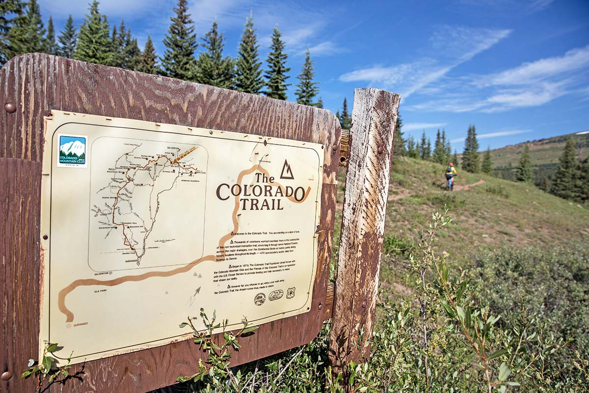 Map of Colorado Trail while bikepacking