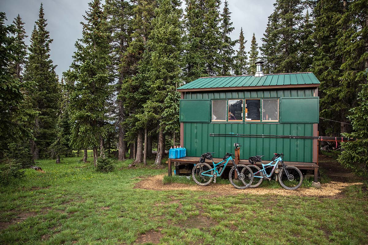 Bikepacking in Colorado's San Juan Mountains (green hut)