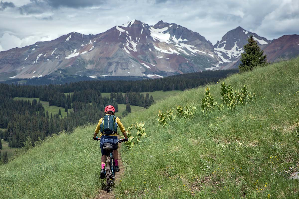 Bikepacking in Colorado's San Juan Mountains (mountain scene)