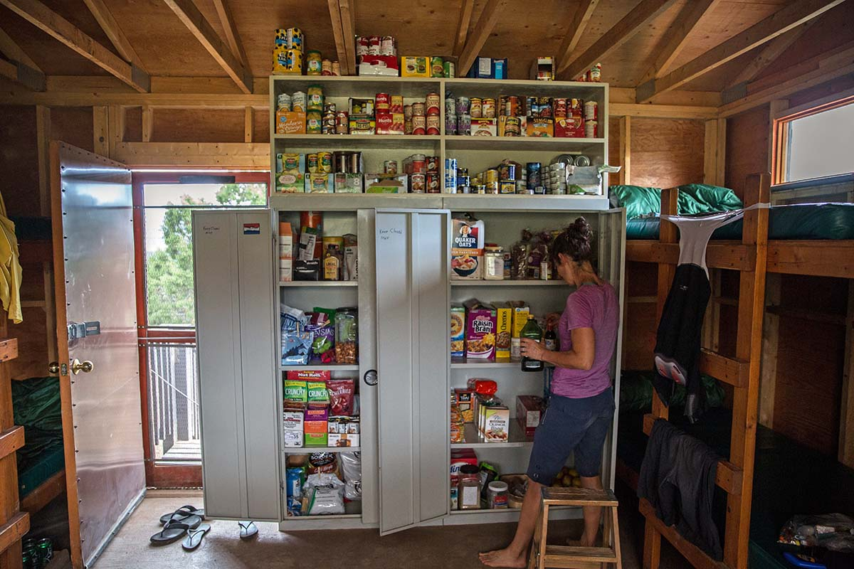 Pantry of food