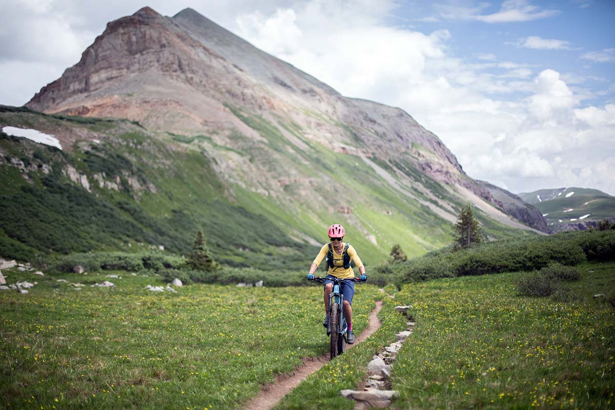 Bikepacking on singletrack in Colorado's San Juan Mountains