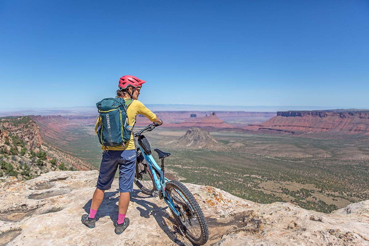 Viewpoint over Utah while bikepacking