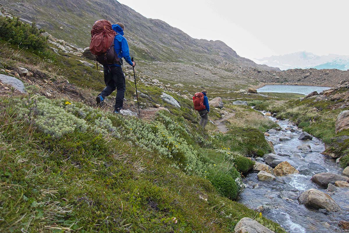 Hiking Huemul Circiut (stream hiking)