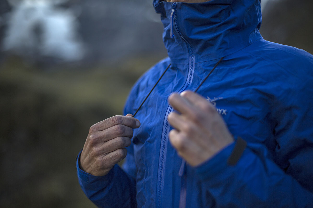 Arc'teryx Alpha FL jacket (hood adjustments)