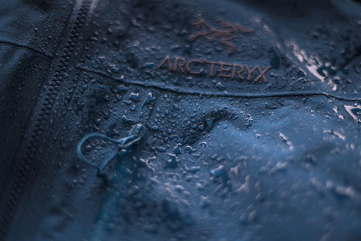 Arc'teryx Alpha SV water droplets