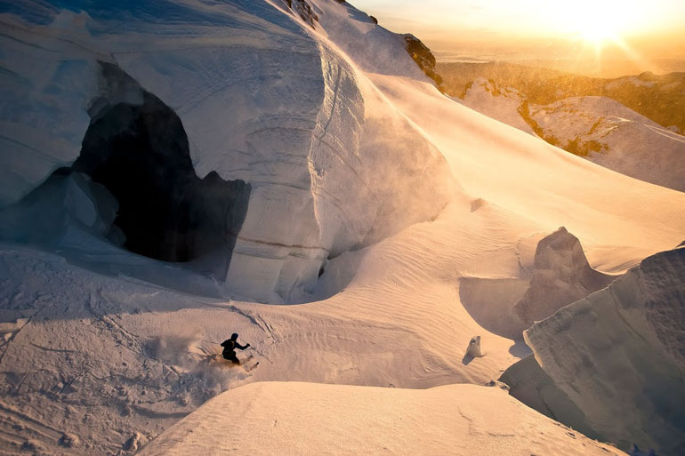 Backcountry skiing glacier Jason Hummel