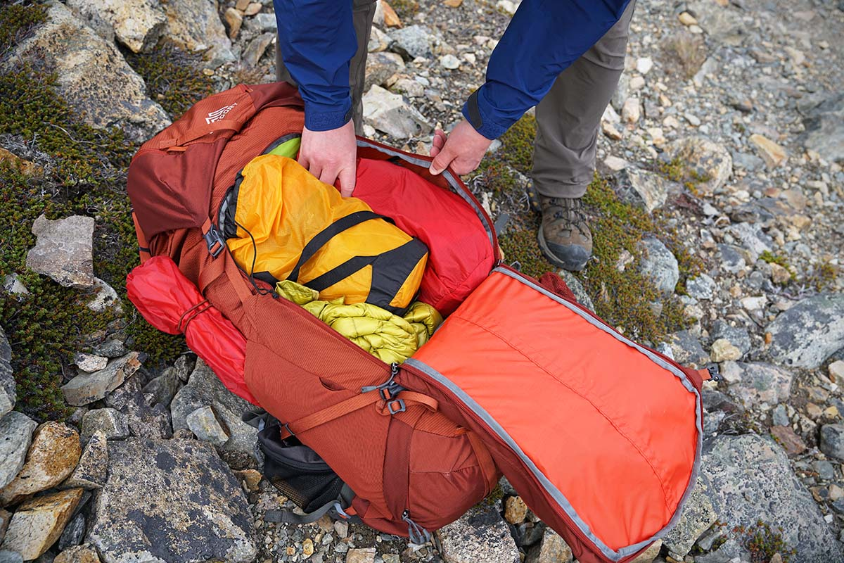 6c3b8d164c Backpacking packs (access) A zippered access to the main compartment makes  it easy to grab items quickly