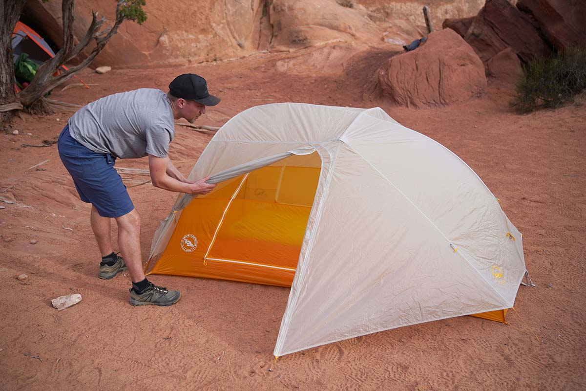 Big Agnes Tiger Wall (rainfly rolled)