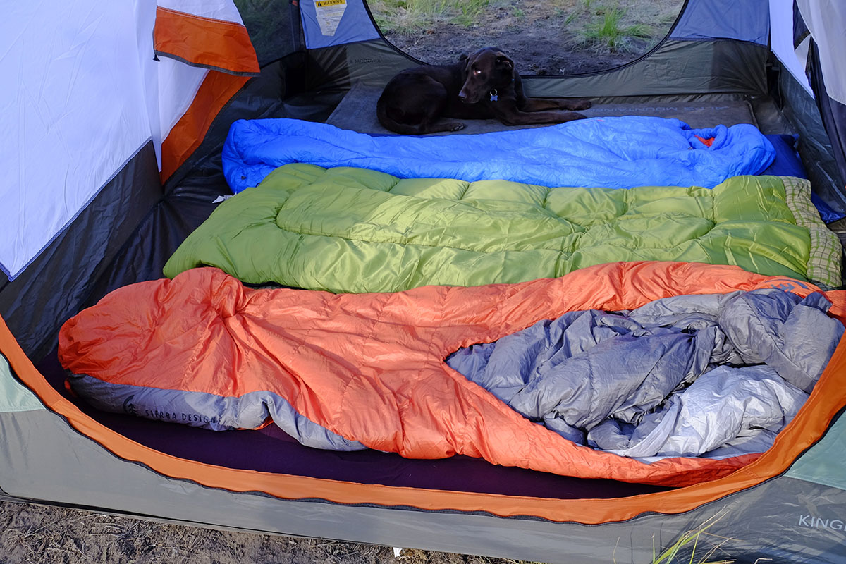 Camping tent (sleeping pads side-by-side)
