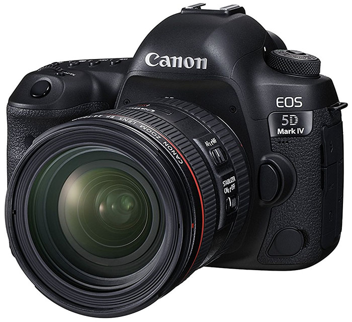 Canon 5D Mark IV with lens