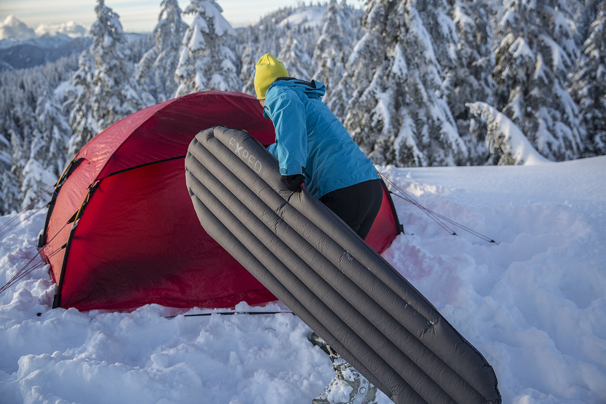 Sleeping pad (Exped DownMat in snowy conditions)