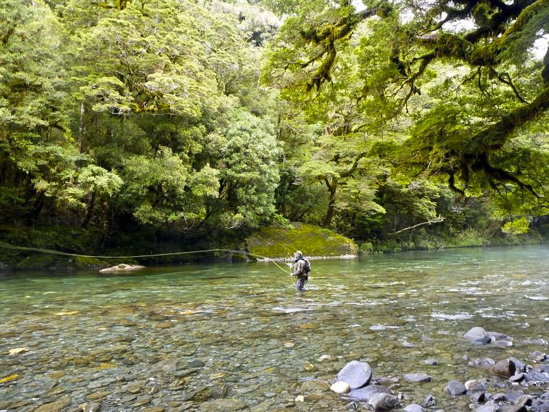 Fly fishing outside Wanaka
