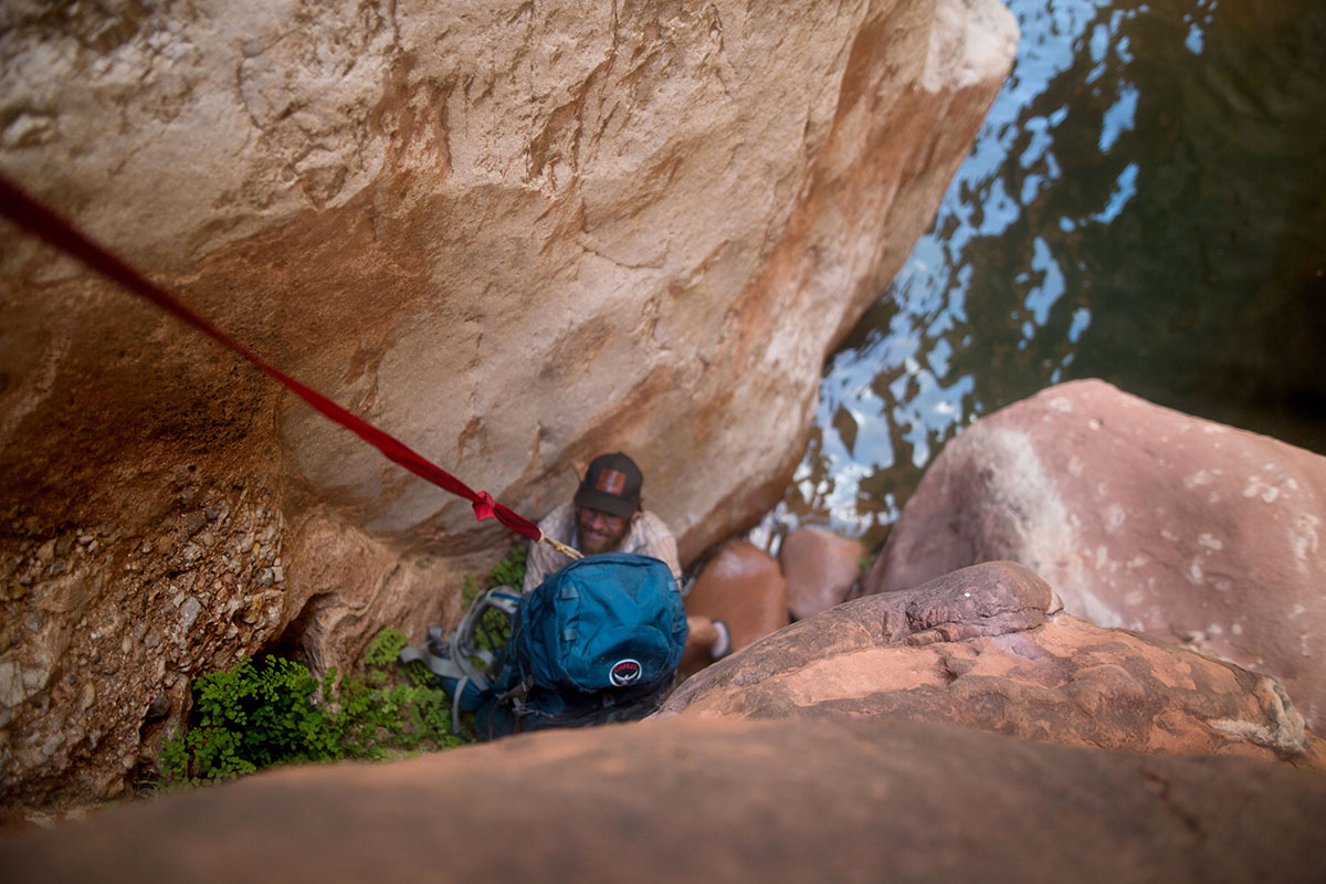 Kanab Creek (climbing down)