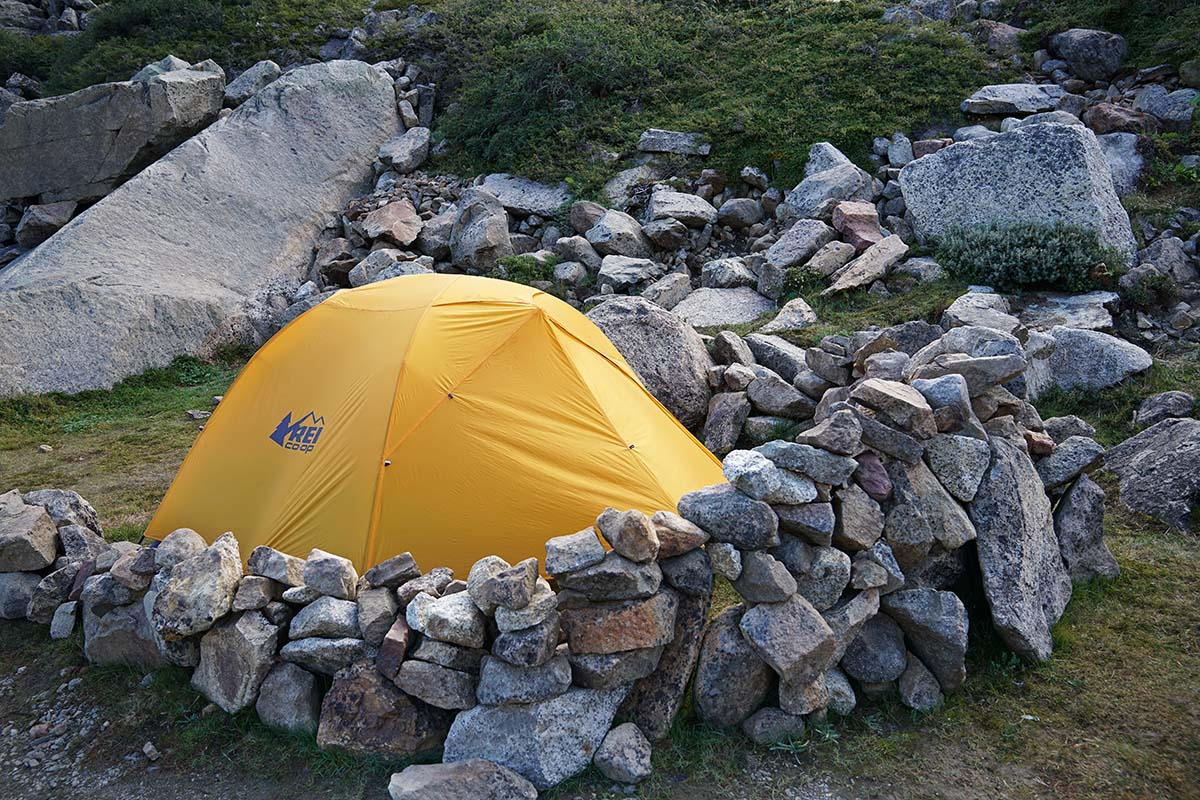 REI Half Dome (wind protection)