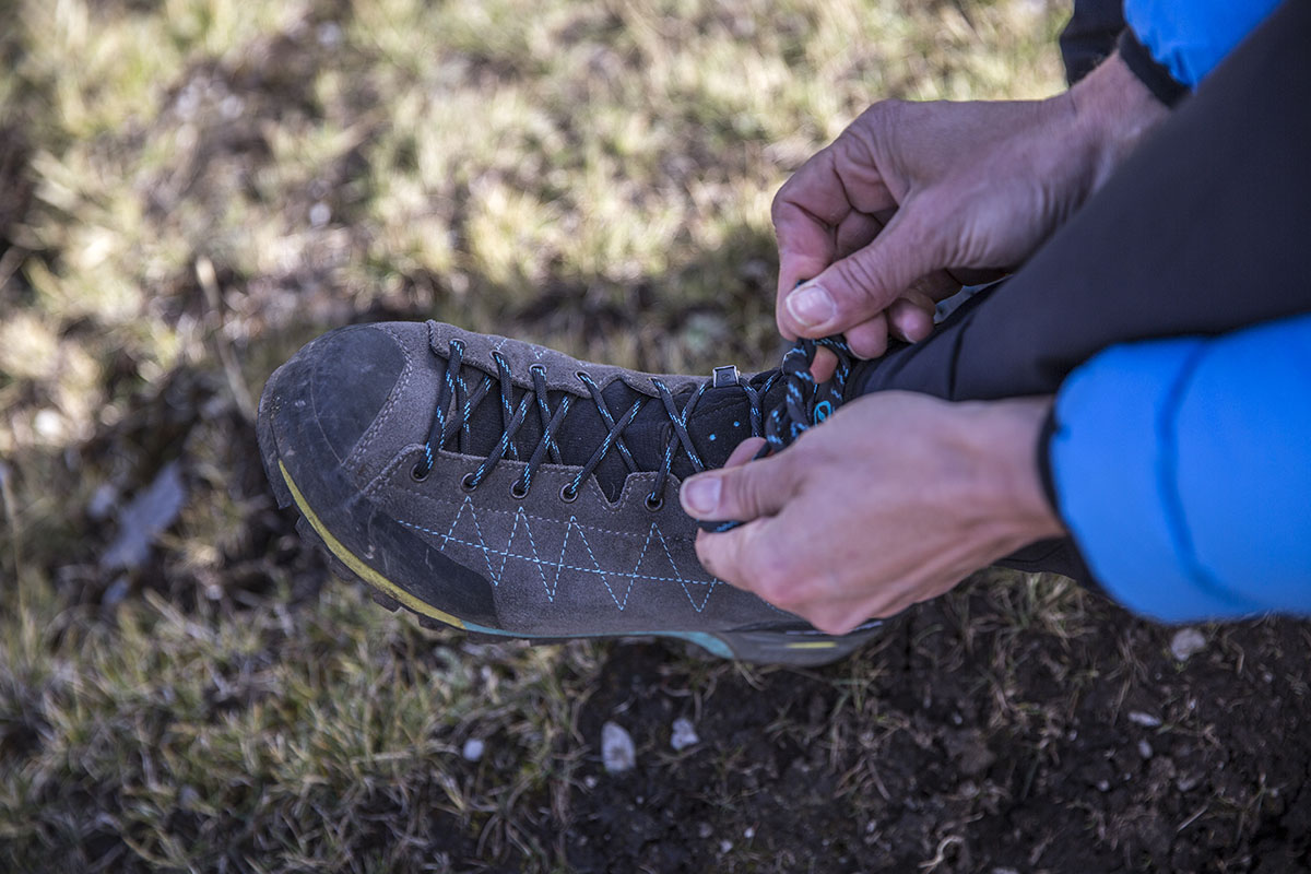 Scarpa Zodiac Plus GTX (lacing)