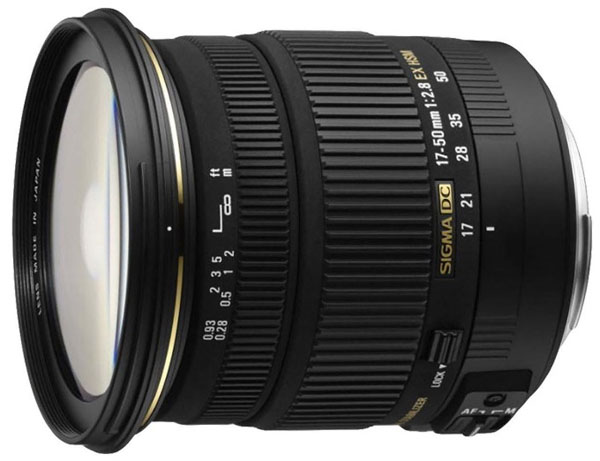 Lente Sigma 17-50 mm f2.8