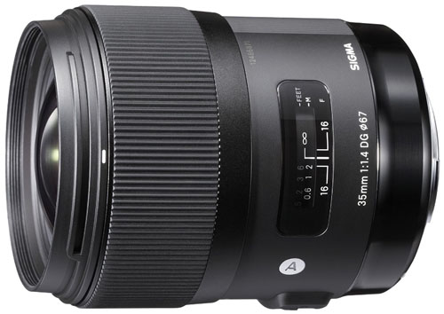 Sigma 35mm f1.4 lens for Nikon