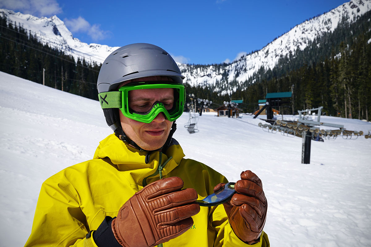 17f1c1547e Ski goggle quick change Anon s magnetic system is best in class in terms of  ease of use