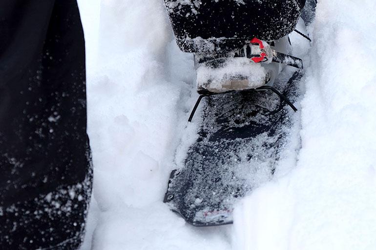 Schneeschuh-Fersenkickstange
